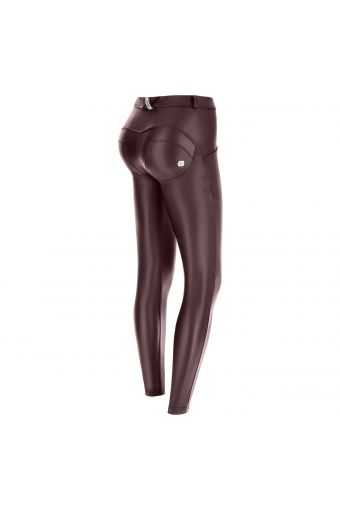 Pantalon push up WR.UP® en simili cuir, coupe superskinny.