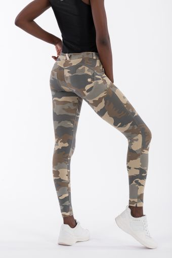 Camouflage WR.UP® regular-rise super skinny trousers