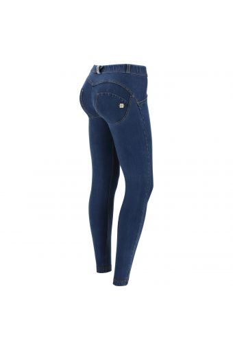 Superskinny WR.UP® shaping trousers in environmentally-friendly dark denim