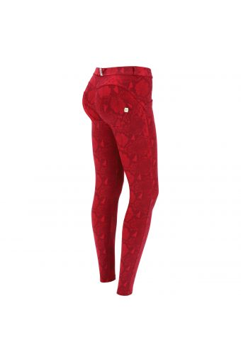 Snake print super skinny WR.UP® shaping trousers