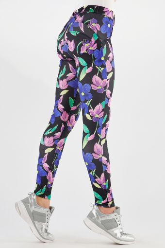 WR.UP® shaping trousers in breathable floral print fabric