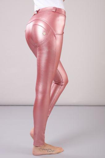 Pantalon WR.UP ® push up skinny en simili cuir métallisé