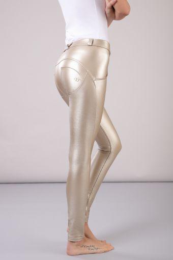 WR.UP® largo pitillo superskinny con talle regular efecto metalizado