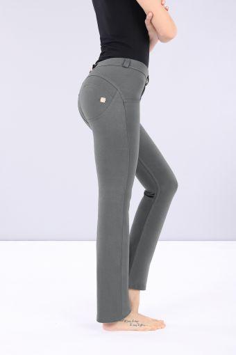 WR.UP® regular-rise straight hem stretch cotton trousers
