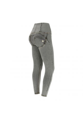 Denim-effect ankle-length high-rise WR.UP® super skinny trousers