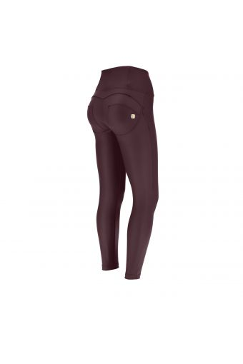 High waist ankle-length faux leather WR.UP® superskinny trousers – Special Edition
