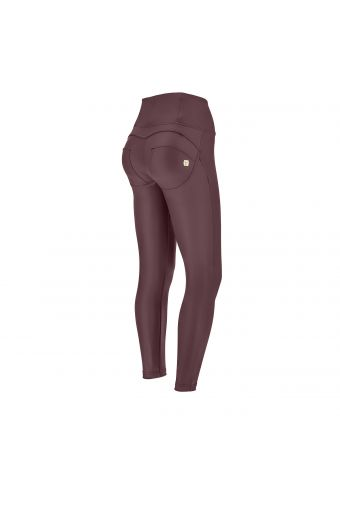 High waist ankle-length faux leather WR.UP® super skinny trousers