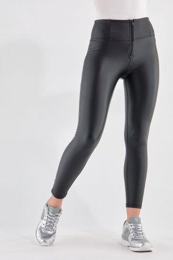 WR.UP® simili-cuir longueur 7/8 super skinny taille haute, effet push-up