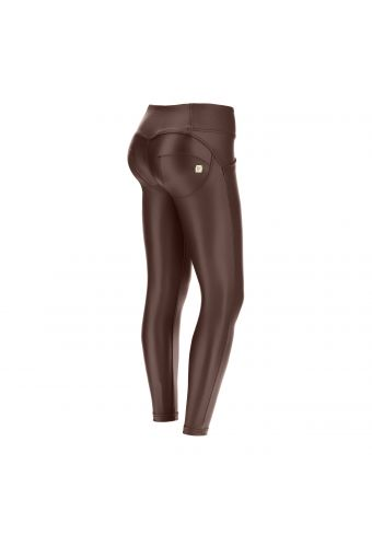 WR.UP® simili-cuir longueur 7/8 super skinny taille moyenne et effet push-up