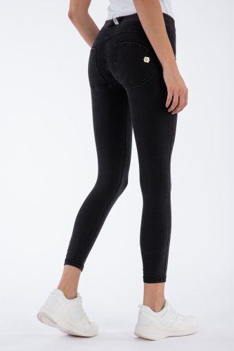 WR.UP® regular-rise super skinny ankle-length trousers in dark denim-effect jersey