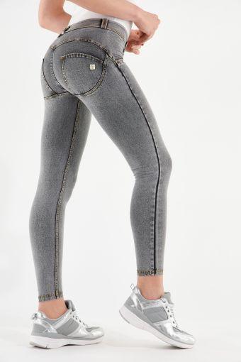 WR.UP® regular-rise super skinny ankle-length trousers in light denim-effect jersey