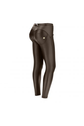 Regular-rise ankle-length WR.UP® super-skinny trousers in faux leather