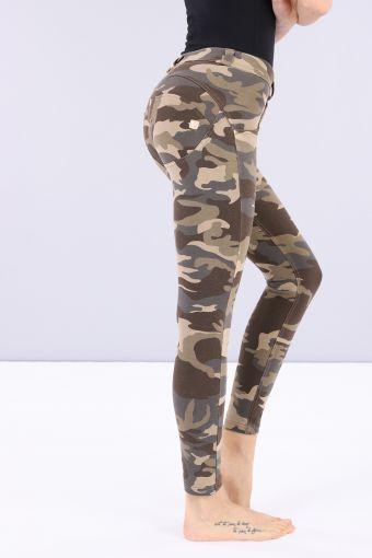 Pantalón largo 7/8 WR.UP® superskinny de talle regular con estampado de camuflaje