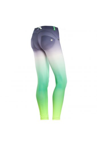 WR.UP® SHAPING EFFECT - Low waist - 7/8 - Fabric D.I.W.O.® - With all-over dégradé print