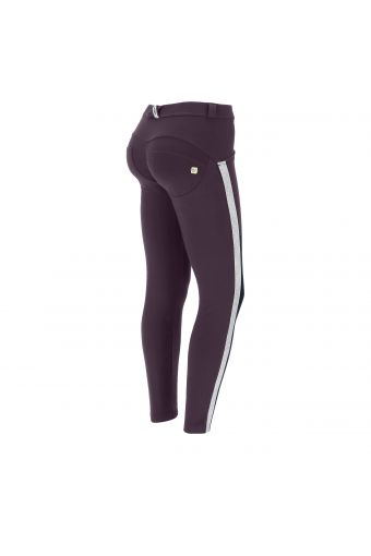 Ankle-length shaping WR.UP® skinny trousers with glitter bands
