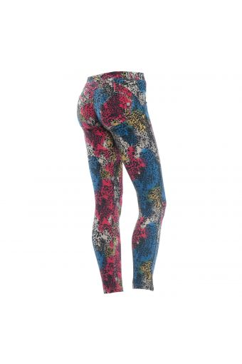 WR.UP® SHAPING EFFECT - Low Waist - 7/8 with zip - colored animalier
