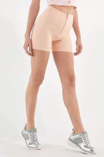 Shorts a vita alta WR.UP® modellanti in jersey drill