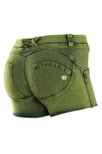 WR.UP® SHAPING EFFECT - Taille Basse - SHORT - effet jean coloré