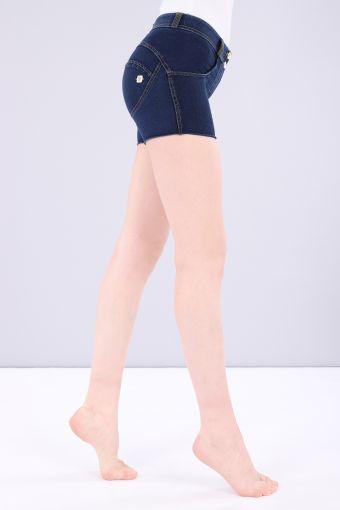 Pantalon court WR.UP® taille classique en jersey effet denim