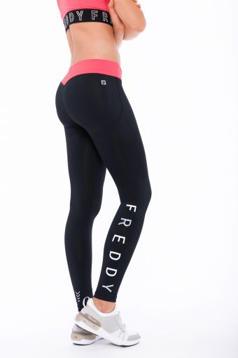 Shaping WR.UP® Sport leggings in D.I.W.O.® fabric with a Freddy print