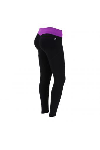 Leggings push up WR.UP® Sport D.I.W.O.® Pro vita a contrasto