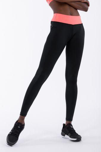 Push up-Fitness-Leggings der Linie WR.UP® mit Kontrastfarbe an der Hüfte