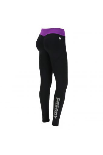 Shaping WR.UP® fitness leggings with a contrast waistband