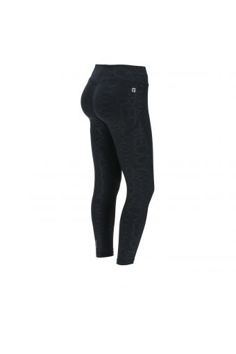 Leggings push WR.UP® Sport 7/8 in D.I.W.O.® stampa all-over