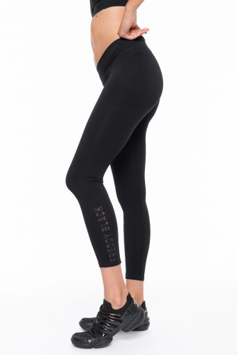 SuperFit ankle-length fitness leggings in printed performance fabric
