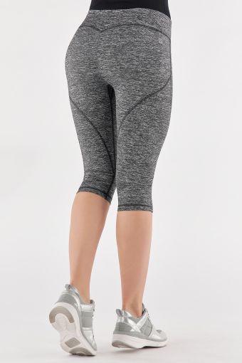 Push up-Fitness-Leggings aus D.I.W.O.®-Stoff der Linie WR.UP® mit Knielänge