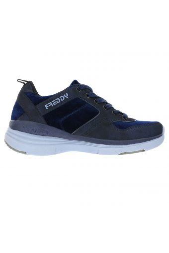Sneakers con tacco interno di 6 cm in nabuk