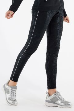 Slim-fit trousers with rhinestones down the sides