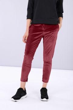 Pantalón comfort de chenilla con pernera ceñida