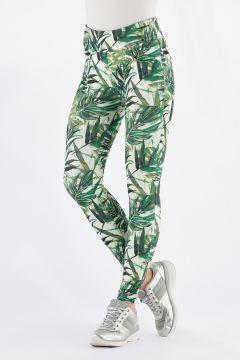 N.O.W.® Pants Yoga aus atmungsaktivem Gewebe mit Tropicalmuster