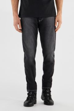 Long trousers with built-in briefs and double change