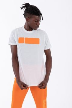 Men's t-shirt with a large contrast logo