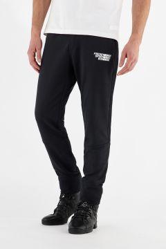 Pantalón de corte cónico elástico con bolsillos con cremallera