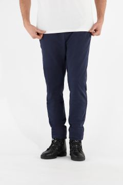 Stretch athletic trousers with panel stitching