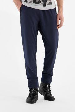 Dark blue stretch athletic trousers
