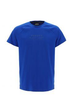 T-shirt elasticizzata con stampa a lettering in rilievo