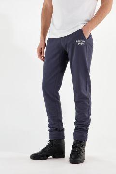 Sportliche Hose aus leichtem Sweatshirtstoff mit Kordelzug und geradem Saum