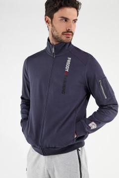 Sweatshirt mit hohem Kragen FREDDY TRAINING mit Reißverschlusstäschchen