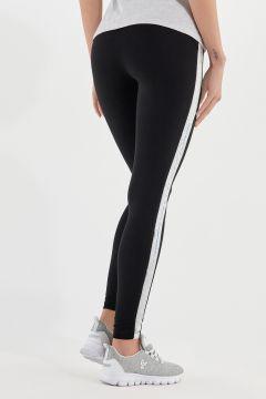 Leggings en molleton de coton léger avec bandes latérales en paillettes