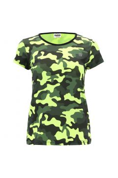 Breathable fluorescent camouflage athletic t-shirt