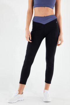 Leggings con fascia a incrocio in vita - 100% Made in Italy
