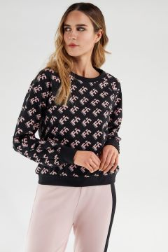 Comfort-fit crew neck sweatshirt with a Freddy logogram print