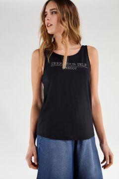 Camiseta sin mangas SEEK YOURSELF con escote en la espalda