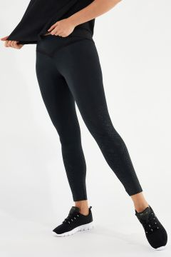 Breathable athletic leggings with dot motifs
