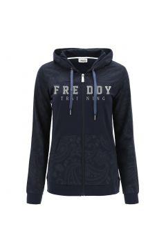 Lightweight zip-front paisley print hoodie