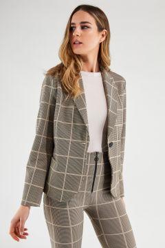 Women's glen plaid blazer